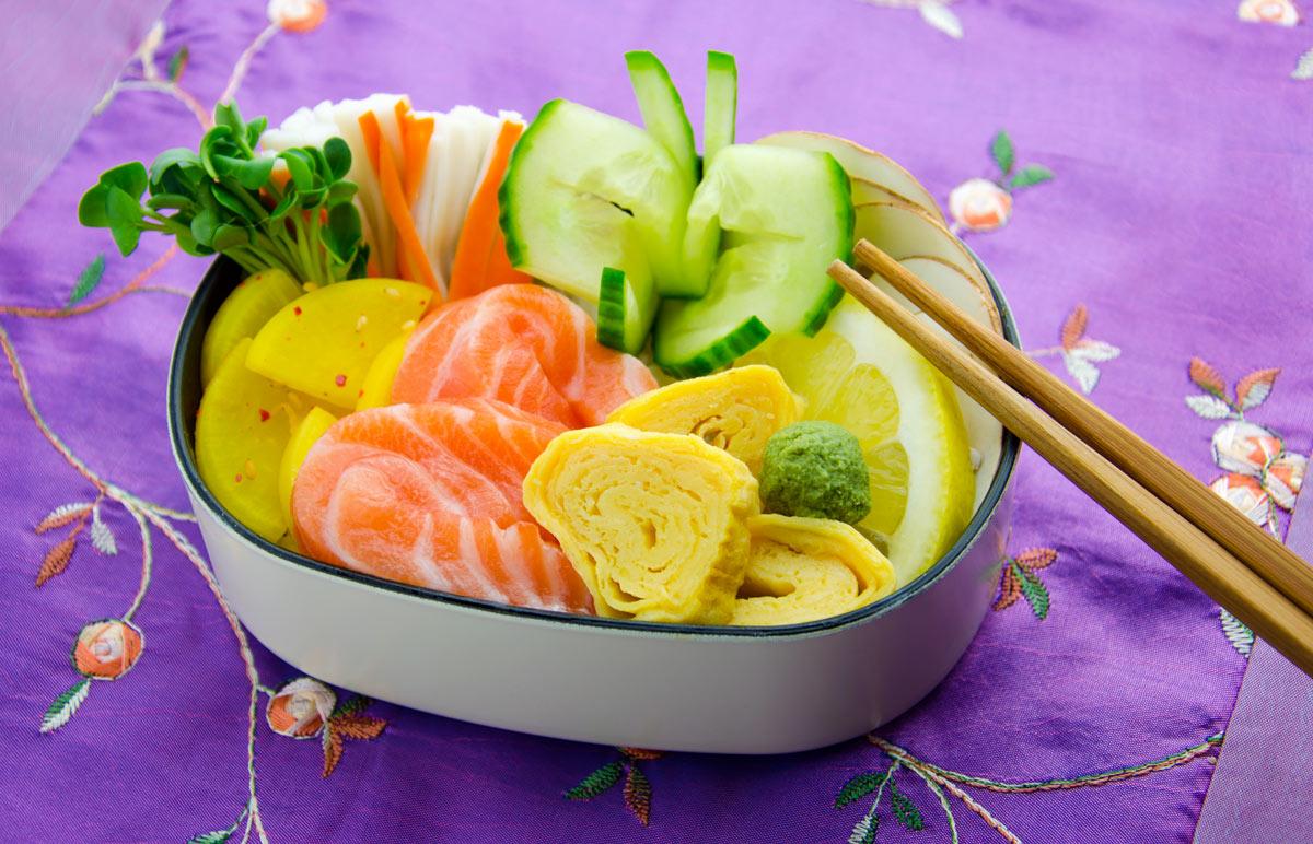 Chirashi-Sushi in Bentobox